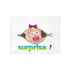 surprise Baby Boo Girl 5'x7'Area Rug