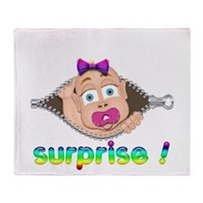 surprise Baby Boo Girl Throw Blanket