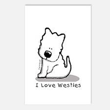 I Love Westies! Postcards (Package of 8)