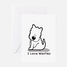 I Love Westies! Greeting Cards (Pk of 10)