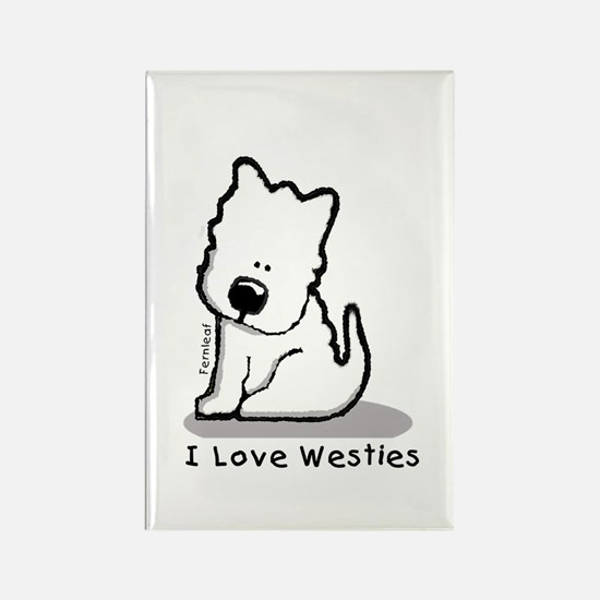 I Love Westies! Rectangle Magnet