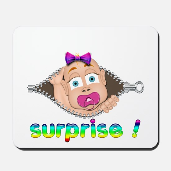 surprise Baby Boo Girl Mousepad