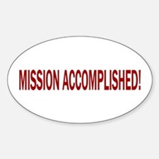 Mission Accomplished Banner Oval Decal