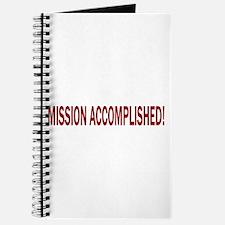 Mission Accomplished Banner Journal