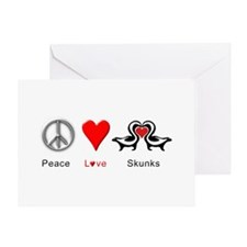 Peace Love Skunks Greeting Card