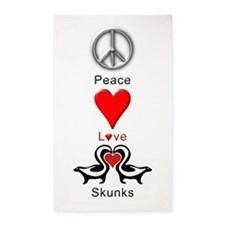 Peace Love Skunks 3'x5' Area Rug