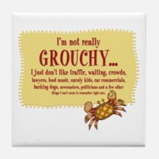 Grouchy Crab Tile Coaster