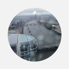 On Top Of London Eye Round Ornament