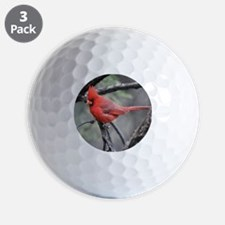 Cardinal in Sabino Canyon Golf Ball