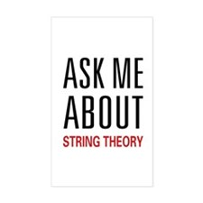 Ask Me String Theory Rectangle Decal