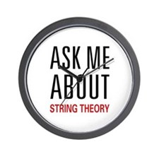 Ask Me String Theory Wall Clock