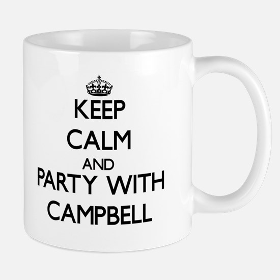 Keep calm and Party with Campbell Mugs