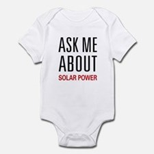 Ask Me About Solar Power Onesie