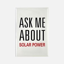 Ask Me About Solar Power Rectangle Magnet (100 pac