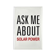 Ask Me About Solar Power Rectangle Magnet