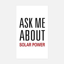 Ask Me About Solar Power Decal