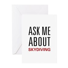 Ask Me Skydiving Greeting Cards (Pk of 10)