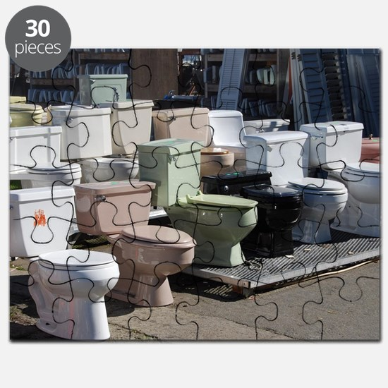 toilets at attention Puzzle