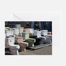 toilets at attention Greeting Card