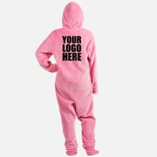 Your Logo Here Personalize It! Footed Pajamas