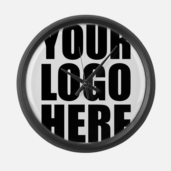 Your Logo Here Personalize It! Large Wall Clock