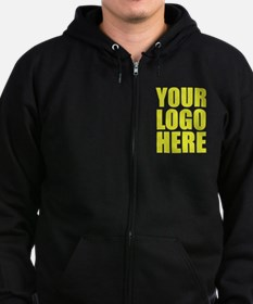 Your Logo Here Personalize It! Zip Hoodie