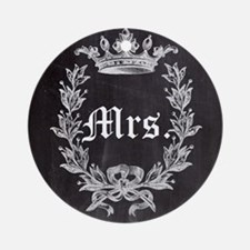 shabby chic chalkboard wedding Mr and Mrs Ornament