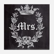 shabby chic chalkboard wedding Mr and Mrs Tile Coa