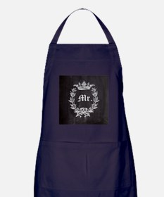 shabby chic chalkboard wedding Mr and Mrs Apron (d