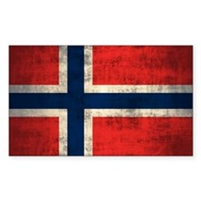 Flag of Norway Vintage Grunge Decal