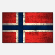 Flag of Norway Vintage Grunge Decal
