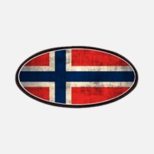 Flag of Norway Vintage Grunge Patches