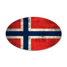 Flag of Norway Vintage Grunge Wall Decal