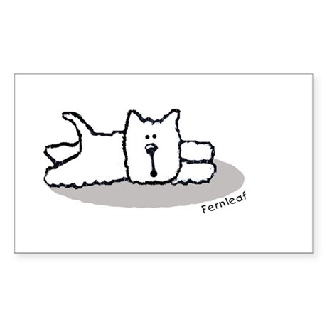 Cute Westie! Rectangle Sticker
