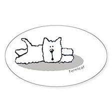 Cute Westie! Oval Decal