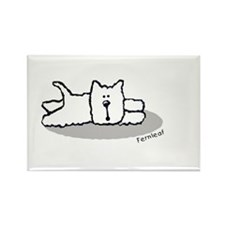 Cute Westie! Rectangle Magnet