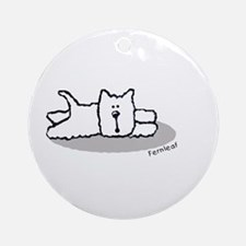 Cute Westie! Ornament (Round)