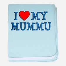 I Love My Mummu baby blanket