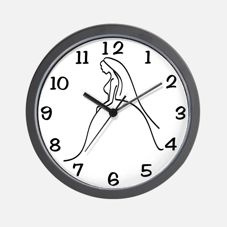 Team Bride Weding Dress Wall Clock