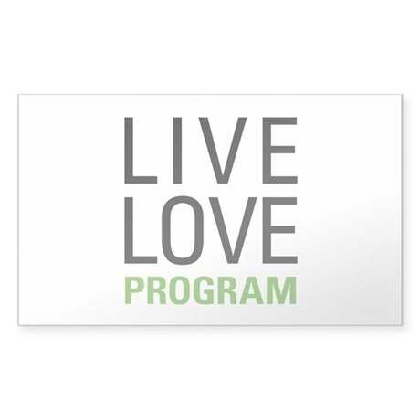 Program Sticker (Rectangle)