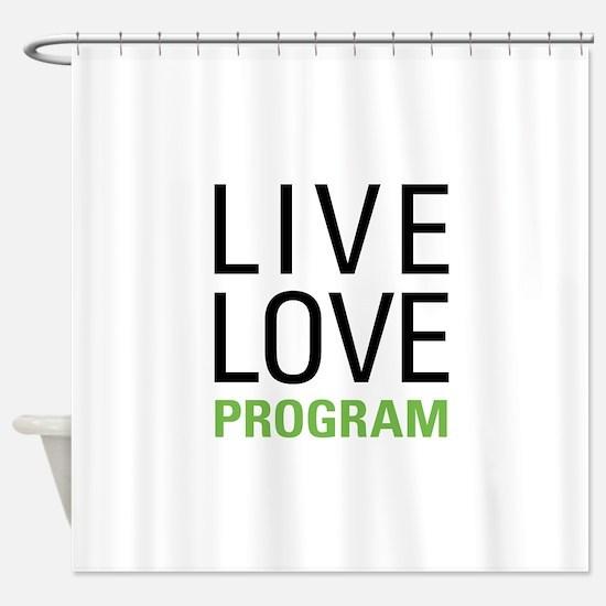 Program Shower Curtain