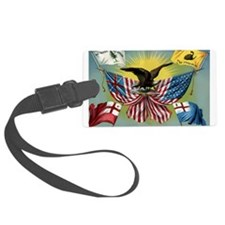 History of the US Flag Luggage Tag