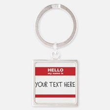 Name Tag Big Personalize It Keychains