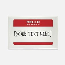 Name Tag Big Personalize It Magnets