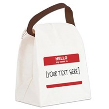 Name Tag Big Personalize It Canvas Lunch Bag