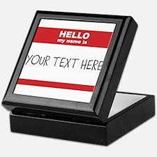Name Tag Big Personalize It Keepsake Box