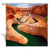 Grand canyon colorado river Shower Curtains