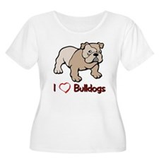 Bulldog gifts for women Women's Plus Size Scoop Ne