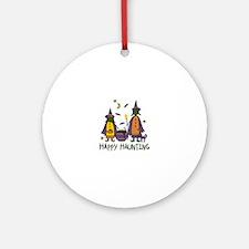 Happy Haunting Ornament (Round)