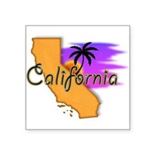 "Cute California Square Sticker 3"" x 3"""